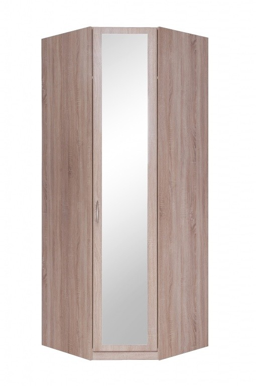 Rohové Cassanova - Šatníková skriňa rohová (1x dvere so zrkadlom)