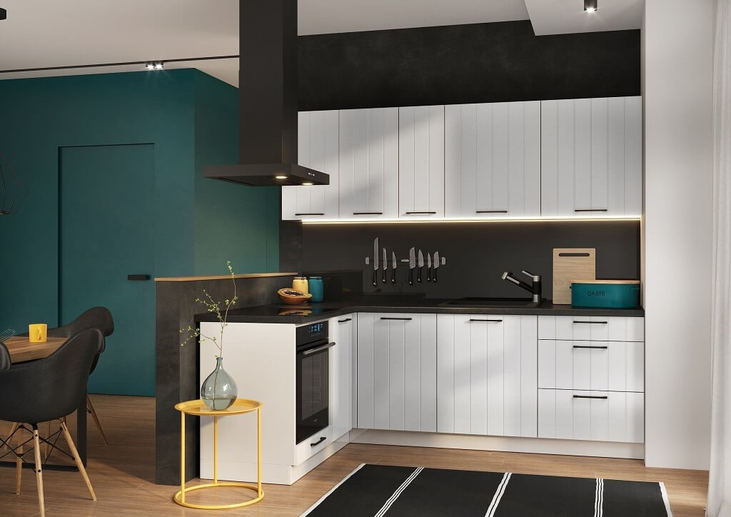 Rohové kuchynské linky Rohová kuchyňa Grace ľavý roh 230x160 cm (biela mat)