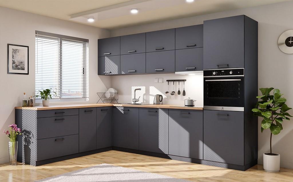 Rohové kuchynské linky Rohová kuchyňa Lisa ľavý roh 300x220 cm