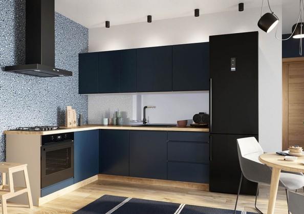 Rohové kuchynské linky Rohová kuchyňa Minea ľavý roh 230x180 (modrá mat)