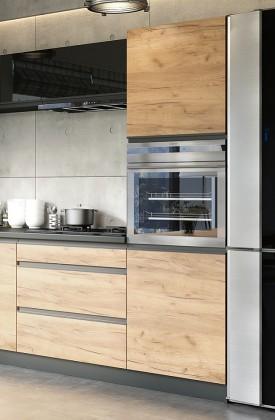 Rohové kuchynské linky Vysoká skrinka na vstavanú rúru ku kuchyni Brick