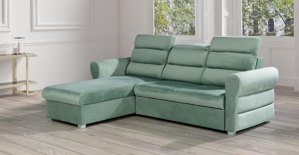 Rohové sedačky rozkladacie Rohová sedačka rozkladacia Argol ľavý roh ÚP zelená
