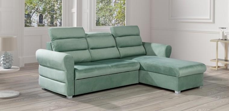 Rohové sedačky rozkladacie Rohová sedačka rozkladacia Argol pravý roh ÚP zelená