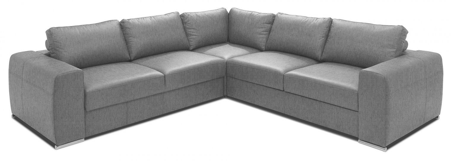 Rohové sedačky rozkladacie Rohová sedačka rozkladacia Biblio ľavý roh ÚP sivá