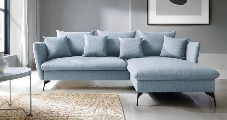 Rohové sedačky rozkladacie Rohová sedačka rozkladacia Bilto pravý roh ÚP modrá