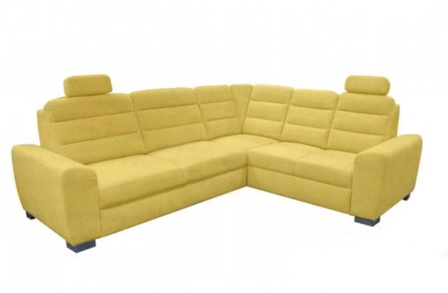 Rohové sedačky rozkladacie Rohová sedačka rozkladacia Fenix pravý roh ÚP žltá