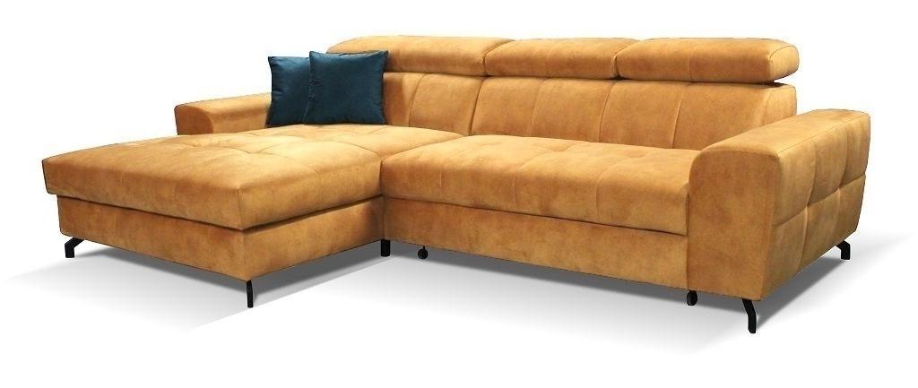 Rohové sedačky rozkladacie Rohová sedačka rozkladacia Gino ľavý roh ÚP hnedá