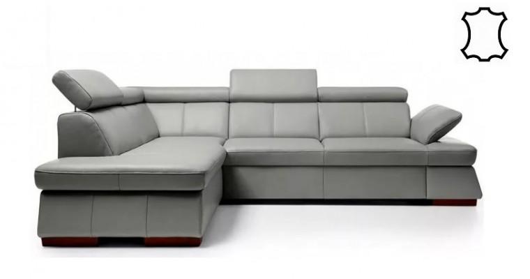 Rohové sedačky rozkladacie Rohová sedačka rozkladacia Malpensa ľavý roh ÚP sivohnedá