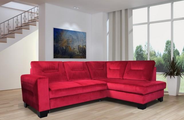 Rohové sedačky rozkladacie Rohová sedačka rozkladacia Massa pravý roh ÚP červená