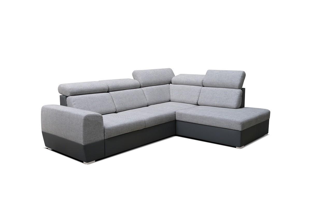Rohové sedačky rozkladacie Rohová sedačka rozkladacia Matrix pravý roh ÚP sivá