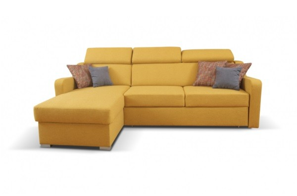 Rohové sedačky rozkladacie Rohová sedačka rozkladacia Meli levý roh ÚP žltá