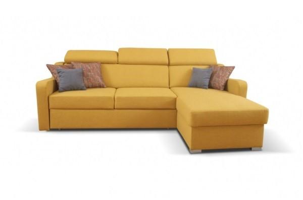 Rohové sedačky rozkladacie Rohová sedačka rozkladacia Meli pravý roh ÚP žltá