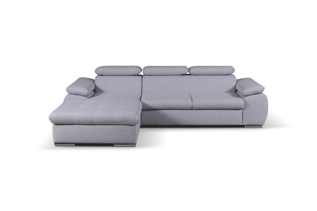Rohové sedačky rozkladacie Rohová sedačka rozkladacia Padua ľavý roh ÚP sivá