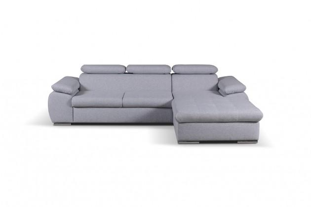 Rohové sedačky rozkladacie Rohová sedačka rozkladacia Padua pravý roh ÚP sivá