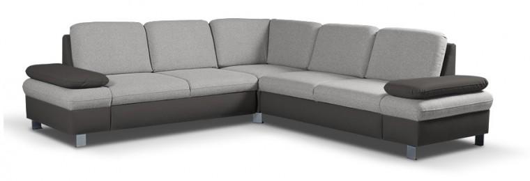 Rohové sedačky rozkladacie Rohová sedačka rozkladacia Sante univerzálny roh hnedá, sivá