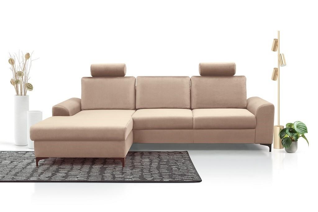 Rohové sedačky rozkladacie Rohová sedačka rozkladacia Senja roh ľavý ÚP béžová