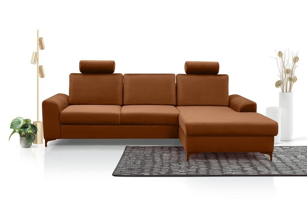 Rohové sedačky rozkladacie Rohová sedačka rozkladacia Senja roh pravý ÚP hnedá