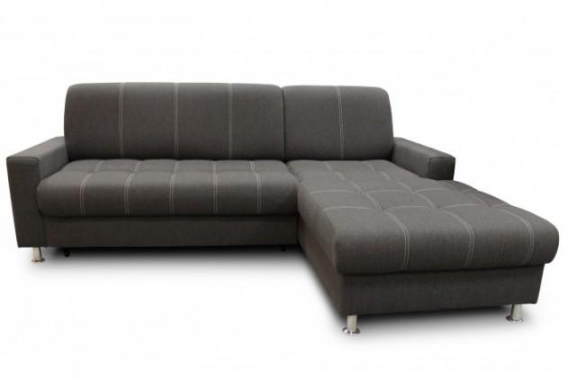 Rohové sedačky rozkladacie Rohová sedačka rozkladacia Simone pravý roh ÚP sivá