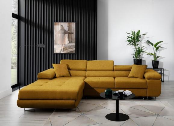 Rohové sedačky rozkladacie Rohová sedačka rozkladacia Tanami levý roh ÚP žltá