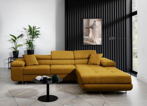 Rohové sedačky rozkladacie Rohová sedačka rozkladacia Tanami pravý roh ÚP žltá