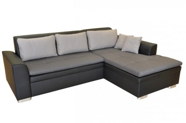 Rohové sedačky rozkladacie Rohová sedačka rozkladacia Vanilla pravý roh ÚP čierna, sivá
