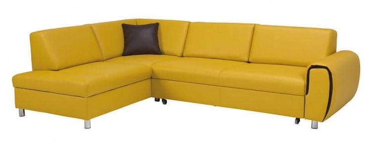 Rohové sedačky rozkladacie Rohová sedačka rozkladacia Vigo ľavý roh ÚP žltá