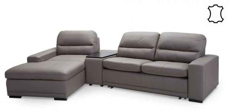 Rohové sedačky s úložným priestorom Kožená sedačka rozkládacia Bono ľavý roh ÚP