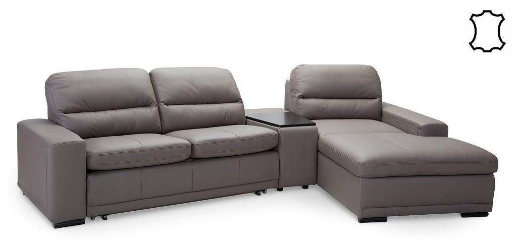 Rohové sedačky s úložným priestorom Kožená sedačka rozkládacia Bono pravý roh ÚP