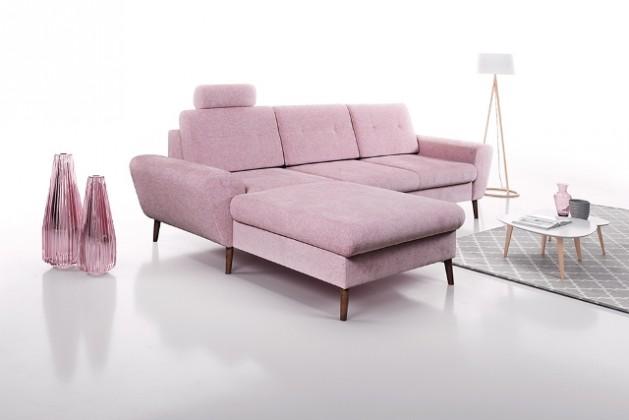 Rohové sedačky s úložným priestorom Rohová sedačka Sven ľavý roh ÚP ružová
