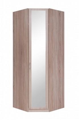 Rohové skrine Cassanova - Šatníková skriňa rohová (1x dvere so zrkadlom)