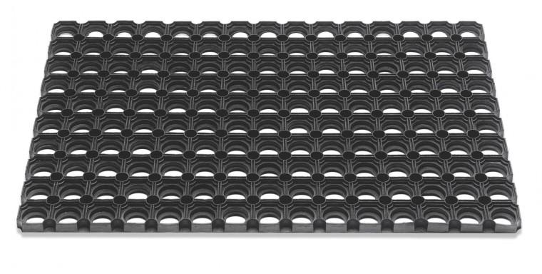 Rohožka - Domino, 80x120x2,3 cm (čierna)