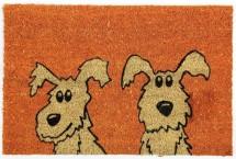 Rohožka Dva psy (40x60 cm)
