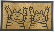 Rohožka Dve mačky (40x70 cm)