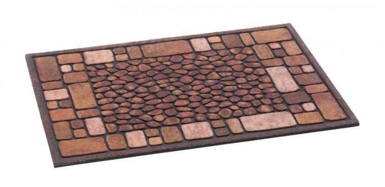 Rohožka - Ecomat, hnedá, 40x60 cm (kamienky)