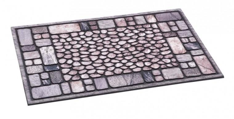 Rohožka - Ecomat, sivá, 40x60 cm (kamienky)