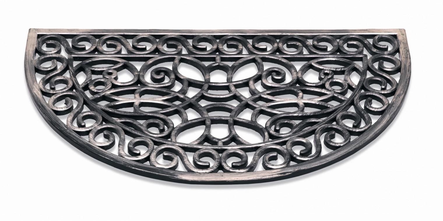 Rohožka - Inca, polkruh, 45x75 cm (strieborná)