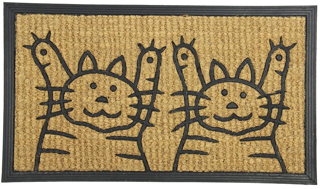Rohožky Rohožka Dve mačky (40x70 cm)