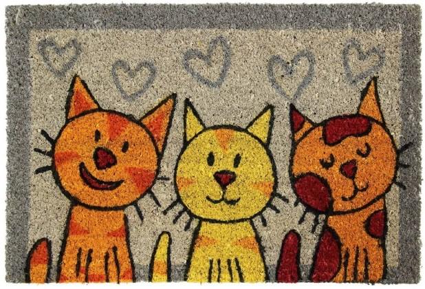 Rohožky Rohožka Tri mačky (40x60 cm)