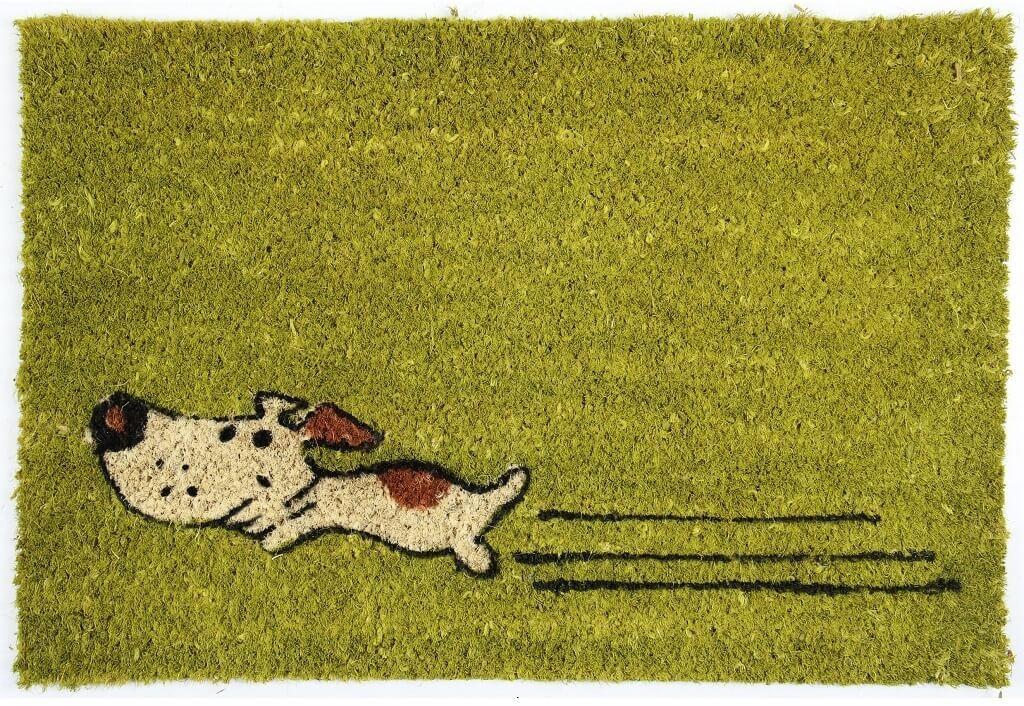 Rohožky Rohožka Zelený pes (40x60 cm)