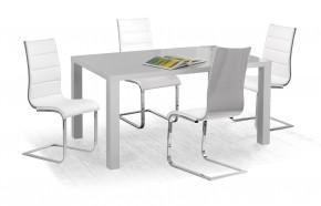 Ronald - Jedálenský stôl 120x80 cm (sivý lak)