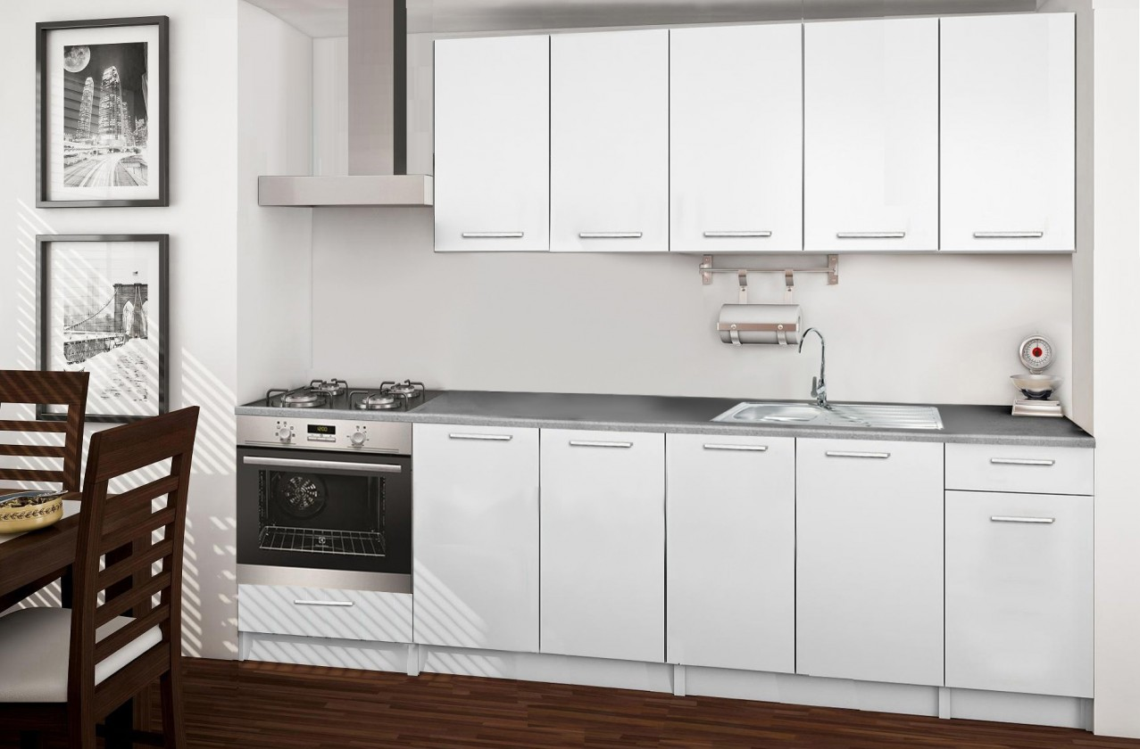 Rovná Basic - kuchynský blok A 260 cm