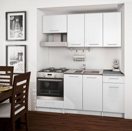 Rovná Basic - kuchynský blok B, 180 cm (biela)