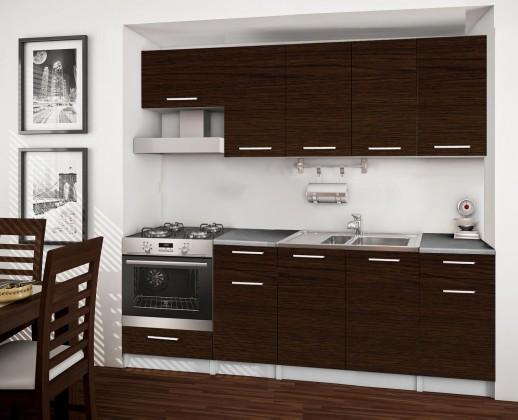 Rovná Basic - kuchynský blok B, 220 cm (wenge)