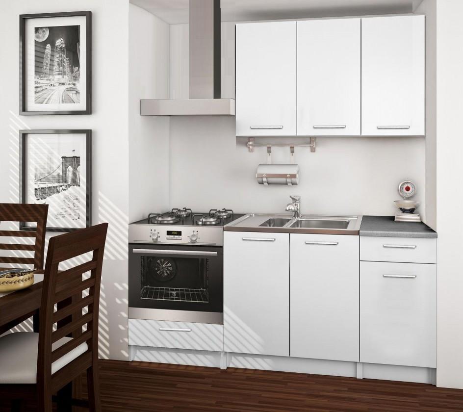 Rovná Basic - kuchynský blok C, 180 cm (biela)
