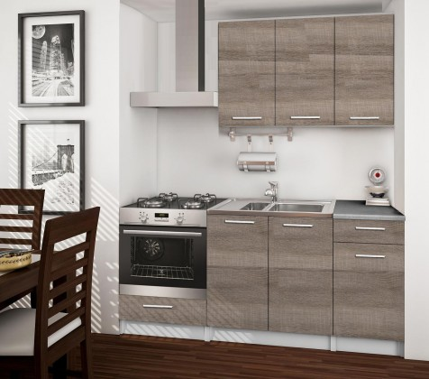 Rovná Basic - kuchynský blok C, 180 cm (dub truffle)
