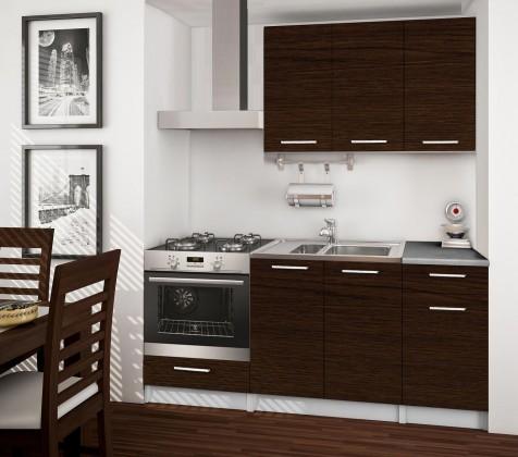 Rovná Basic - kuchynský blok C, 180 cm (wenge)