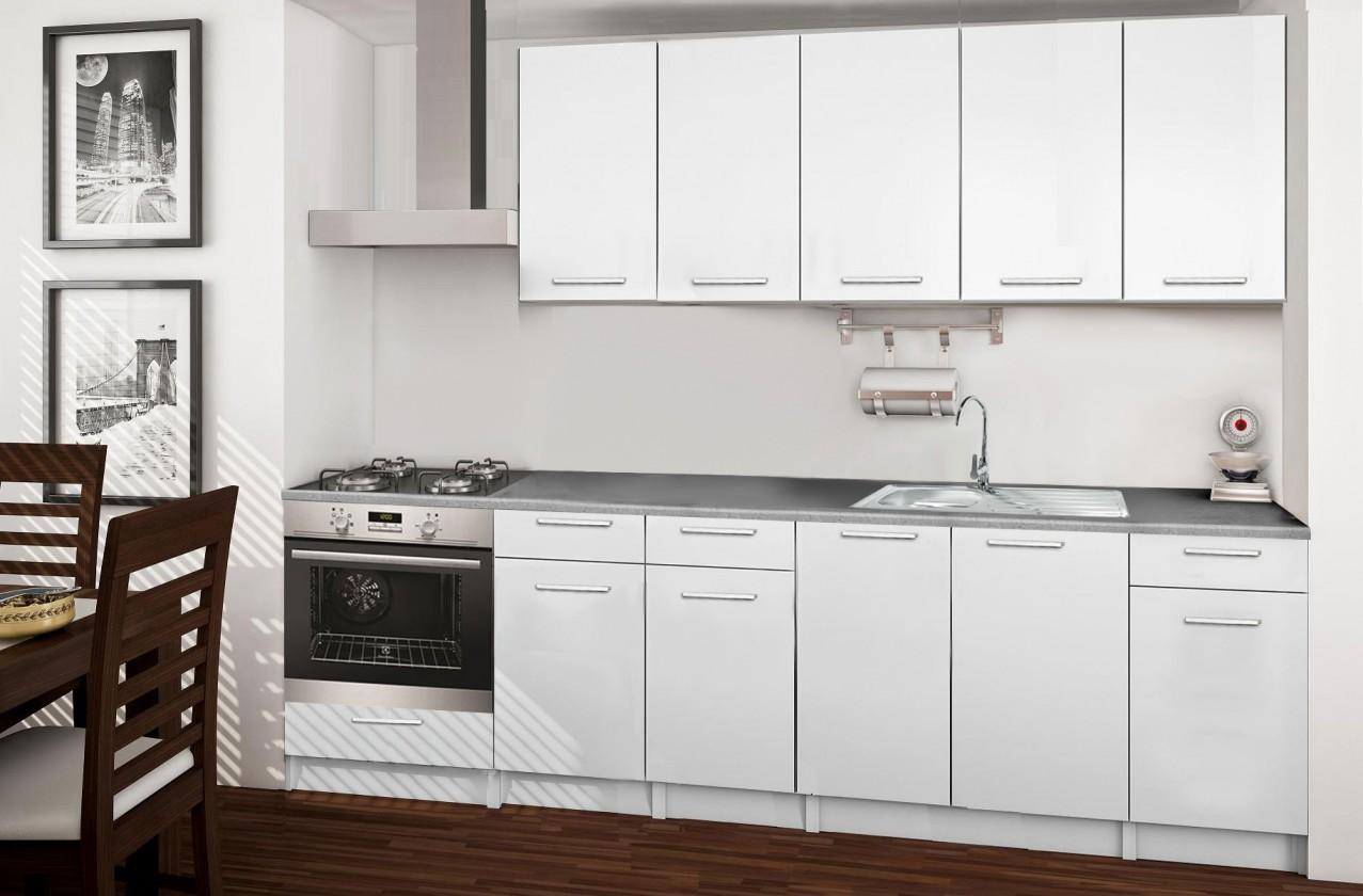 Rovná Basic - kuchynský blok D 260 cm
