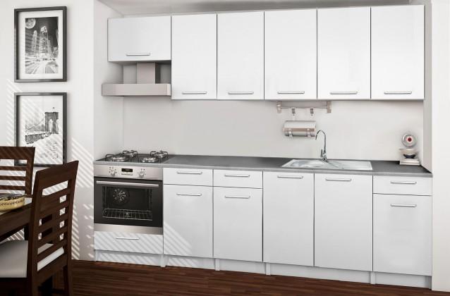 Rovná Basic - kuchynský blok E 260 cm