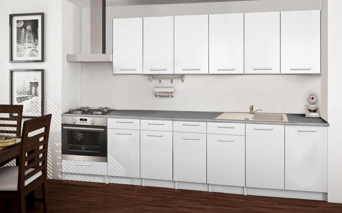 Rovná Basic - kuchynský blok E 300 cm