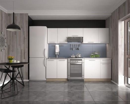 Rovná Kuchyňa Daria - 240 cm (biela/dub sonoma)